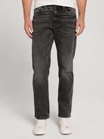Tom Tailor Marvin Straight Jeans met gerecycled polyester, used mid stone grey denim