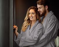 Dreamhouse Badjas - Hotelkwaliteit - Ultra Zacht en Warm - Geschikt voor Sauna of lekker Thuis - Grijs