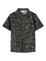 NAME IT Short-sleeved Shirt Heren Blauw