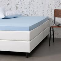 Dekbed-Discounter Jersey Stretch Topper Hoeslaken Kleur: Blauw, 100/120 x 200