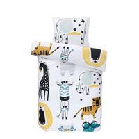 Essentials dekbedovertrek Thabo - oker/grijs - 120x150 cm