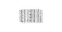 HSM Collection vloerkleed Vejen - zwart/wit - 90x60 cm