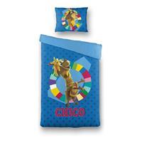 Fabeltjeskrant Dekbed Overtrek Chico Lama Blauw, 140x200 + 60x70