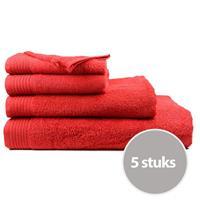 The One Towelling The One Handdoek Voordeelpakket 450 gram 50x100 cm Rood (5 stuks)