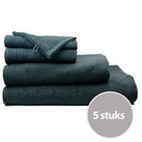 The One Towelling The One Handdoek Voordeelpakket 450 gram 50x100 cm Antraciet (5 stuks)