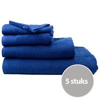 The One Towelling The One Handdoek Voordeelpakket 450 gram 50x100 cm Navy (5 stuks)