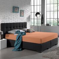 homecare Home Care Jersey Hoeslaken - Home Care Pastel Oranje 80/90/100 x 200 cm