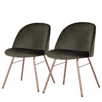 Home24 Gestoffeerde stoelen Ally I (set van 2),