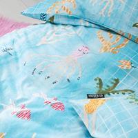 fresh&cokids Fresh&Co Kids Dekbedovertrek Water World 1-persoons (140 x 200 + 1 kussensloop) Dekbedovertrek