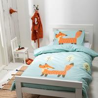 fresh&cokids Fresh&Co Kids Dekbedovertrek Happy Fox 1-persoons (140 x 200 + 1 kussensloop) Dekbedovertrek