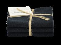 Solwang Design vaatdoekjes - set van 3 - zwart