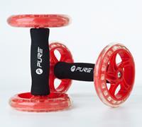 Pure2Improve fitness trainingswiel rood/zwart 2 stuks