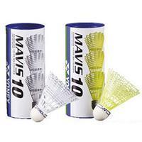 Yonex Mavis 10 Nylon Badminton Shuttles Geel - 3 stuks