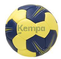 Kempa Leo Basic Profile Handbal - Maat 0 - Donker Blauw / Limoen Geel