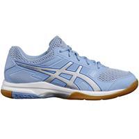 Asics Badminton-/squashschoenen voor dames Gel Rocket 7 blauw/wit