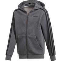 adidas Core 3-Stripes Fleece Hoodie Junior - Zwart - Kind
