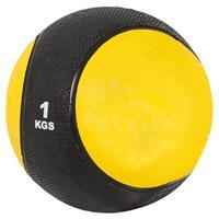 Medicine Ball 1 kg (Kunststof) zwart/geel