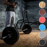 Sportschool Vloer Beschermingsmatten (6 matten + 12 eindstukken) Donkere houtkleur