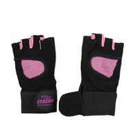 Legend Sports Fitness handschoen legend mesh zwart/roze