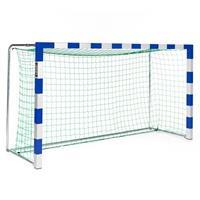 Sport-Thieme Mini-Handbaldoel 3x1,60 m, vrijstaand, Blauw-zilver, Alu-gietvorm hoekverbinding