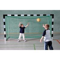 Sport-Thieme Mini-Handbaldoel 3x1,60 m, vrijstaand, Zwart-zilver, Gepatenteerde hoekverbinding