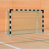 Sport-Thieme Handbal-doel met vaste netbeugel, Zwart-zilver, Standard, doeldiepte 1 m