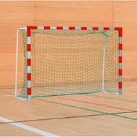 Sport-Thieme Handbal-doel met vaste netbeugel, Rood-zilver, Standard, doeldiepte 1,25 m