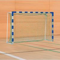 Sport-Thieme Handbal-doel met vaste netbeugel, Blauw-zilver, Standard, doeldiepte 1,25 m