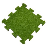 sporttrader Rubber Tegel met Kunstgras Toplaag - Middenstuk - Puzzelsysteem - 50 x 50 x 2,2 cm