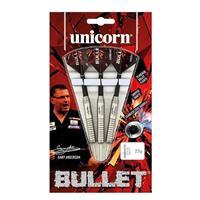 Unicorn Gary Anderson Bullet dartset steeltip 24g staal rood