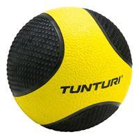 Tunturi fitnessbal Medicine 1 kg 19 cm rubber geel/zwart
