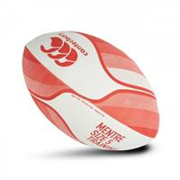 Canterbury rugbybal Mentre katoen/rubber rood/wit