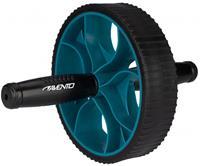 Avento buikspierwiel 17 cm rubber zwart/blauw