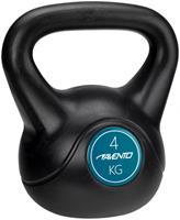 Avento kettlebell 4 kg zwart/blauw