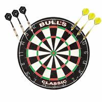 Dartbord Bulls The Classic met 2 sets dartpijlen 21 grams - Dartborden