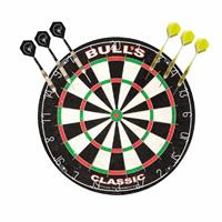 Dartbord Bulls The Classic met 2 sets dartpijlen 23 grams - Dartborden
