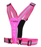 Gato Sports reflectievest Safer Sport junior polyester roze