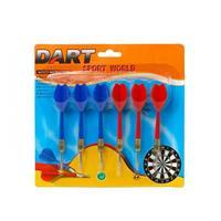 6x Dartpijlen rood en blauw 11,5 cm sportief speelgoed - Dartpijlen
