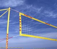 Funtec Pro Beach volleybalnet 8,5m/9,5m mobiel opstelling