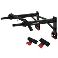 Hammer Fitness Pull-Up 2.0 Optrekstang - Pull Up Bar - met lifting hooks en push-up bars