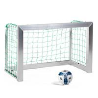 Sport-Thieme Mini-Trainingsdoel, volledig gelast, Incl. net, groen (mw 10 cm), 1,20x0,80 m, diepte 0,70 m