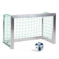 Sport-Thieme Mini-Trainingsdoel, volledig gelast, Incl. net, blauw (mw 10 cm), 1,20x0,80 m, diepte 0,70 m