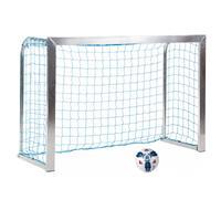 Sport-Thieme Minitraining doel, met opvouwbare netbeugels , Incl. net, blauw (mw 10 cm), 1,80x1,20 m, Tortiefe 0,70 m