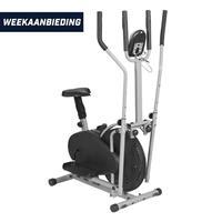 Crosstrainer met verstelbare stoel en hartslagmeting