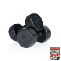 gymstick Vinyl Dumbbell Set - 2 x 5 kg - Zwart - Met Online Trainingsvideo's