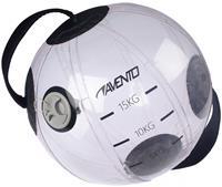 Avento balansbal 15 liter PVC 35 cm transparant/zwart
