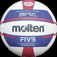 Molten Beachvolleybal V5B5000 Wit blauw rood