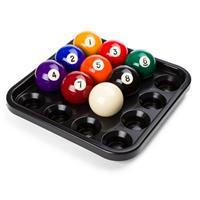 Baltablet voor 16 poolballen, Zwart