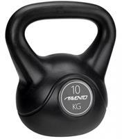 Avento kettlebell 10 kg zwart