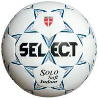 Select Voetbal Solo Soft Indoor Wit blauw maat 4